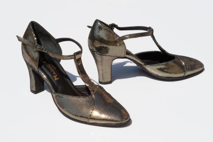 Chaussure Carmen Or