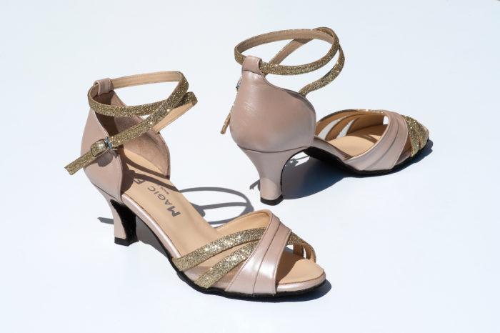 Chaussure danse Mila Saumon